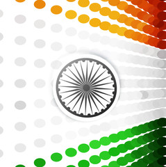 Beautiful stylish indian flag halftone dots colorful vector