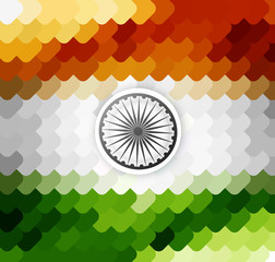 vector Indian flag colorful Independence Day texture background