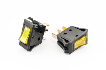 Yellow Rocker Switches with Light
