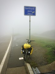 bicycle at gotthard pass