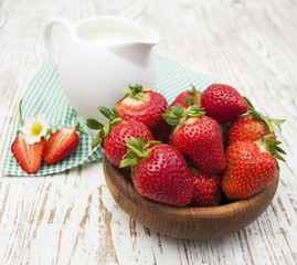 fresh sweet ripe strawberries