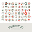 Set of flat design business icons