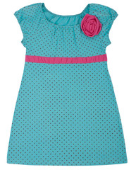 Little dress for child girls. Isolated on white