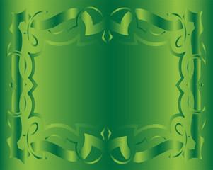 Vintage Royal Background Green Floral Luxury Ornamental