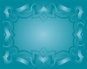 Vintage Royal Background Light Blue Floral Luxury Ornamental