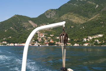 View From a Ship on Ropes, Water and Coastline