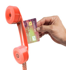 phone with credit card
