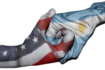 Handshake between United States and Argentina