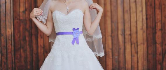 Caucasian young bride