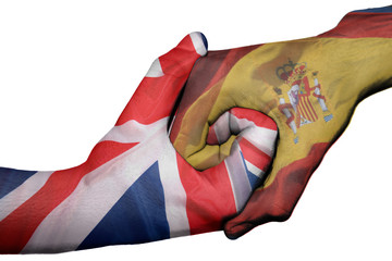 Handshake between United Kingdom and Spain