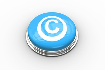 Composite image of copyright symbol graphic on button