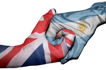 Handshake between United Kingdom and Argentina