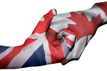 Handshake between United Kingdom and Canada