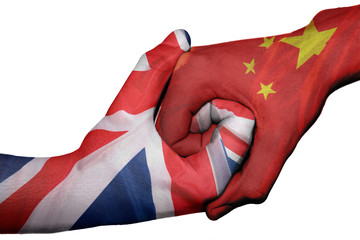 Handshake between United Kingdom and China