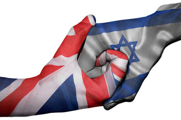 Handshake between United Kingdom and Israel