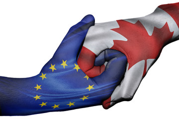 Handshake between European Union and Canada
