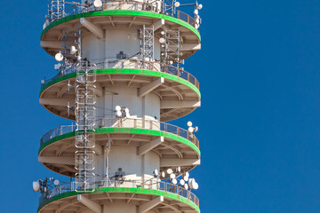 Large concrete telecommunication tower