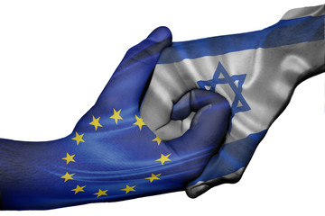 Handshake between European Union and Israel