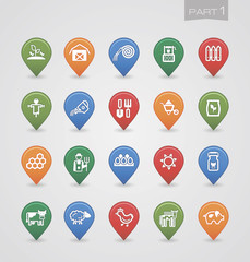 Mapping pins icons Farm part 1