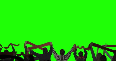 Layered Crowd on Green Screen. Shot on RED.
