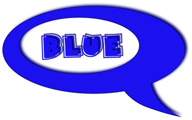 Blue cartoon