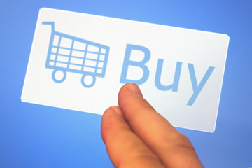 Shopping cart and Buy sign