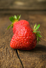 ripe strawberry close-up