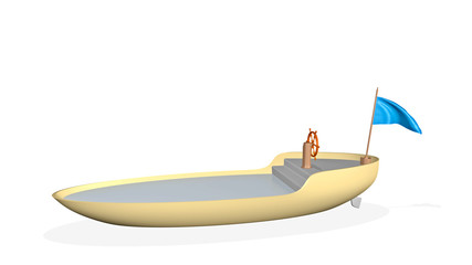 boat - 3D render illustration
