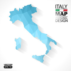 Italy map geometric polygonal vector