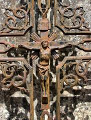 La crucifixion.