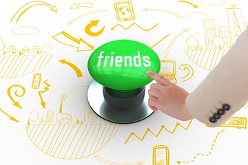 Friends against digitally generated green push button
