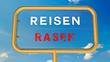 canvas print picture - Reisen vs Rasen - Sicherheitskonzept