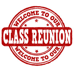 Welcome to our class reunion stamp