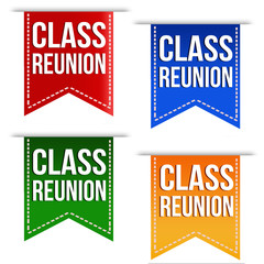 Class reunion ribbons set