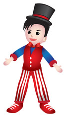 Boy Dressed as Magician Vector Cartoon