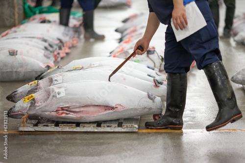 Fototapeta Tsukiji Fischmarkt in Tokyo