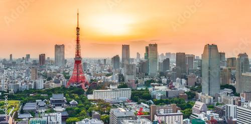 Deurstickers Tokyo Tokyo sunset