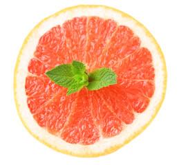 Half of grapefruit isolated on white
