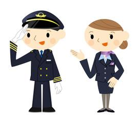 機長とスチュワーデス
