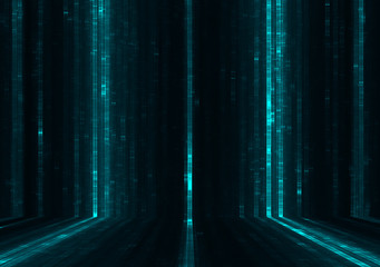 Abstract data stream matrix background