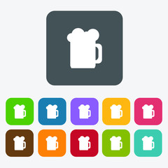 Beer Drinks icons set