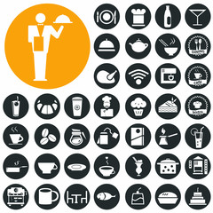 Cafe and restaurant icons