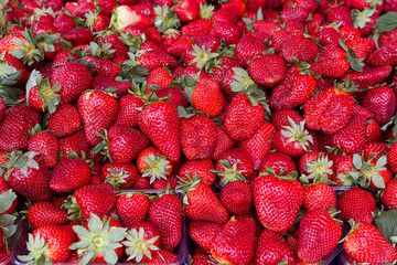 Strawberry fresh natural juicy strawberries to background on the