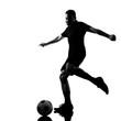 man soccer player silhouette