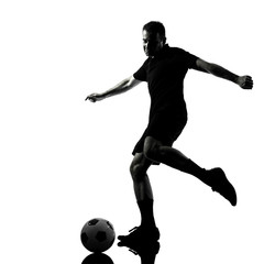 man soccer player silhouette