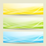 set of three abstract banners