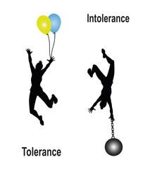Tolerance Intolerance Concept