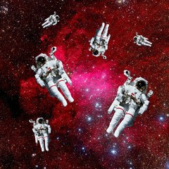 Astronauts Galaxy Space