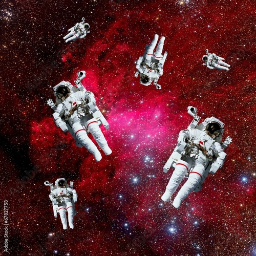 Astronauts Galaxy Space