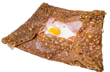 french buckwheat galette with egg